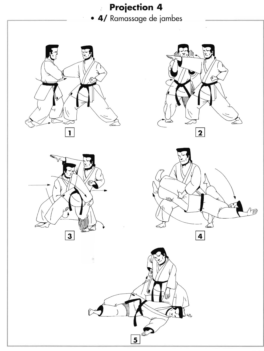 Projection : waki otoshi – Ramassage de jambe